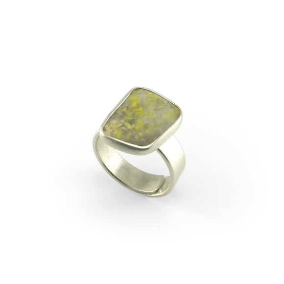 nishnabotna silver boyer ring with green jasper