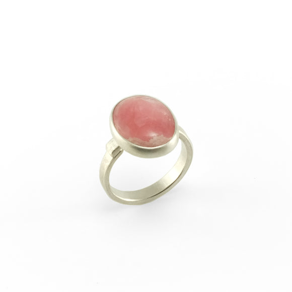 nishnabotna silver boyer ring with rhodochrosite