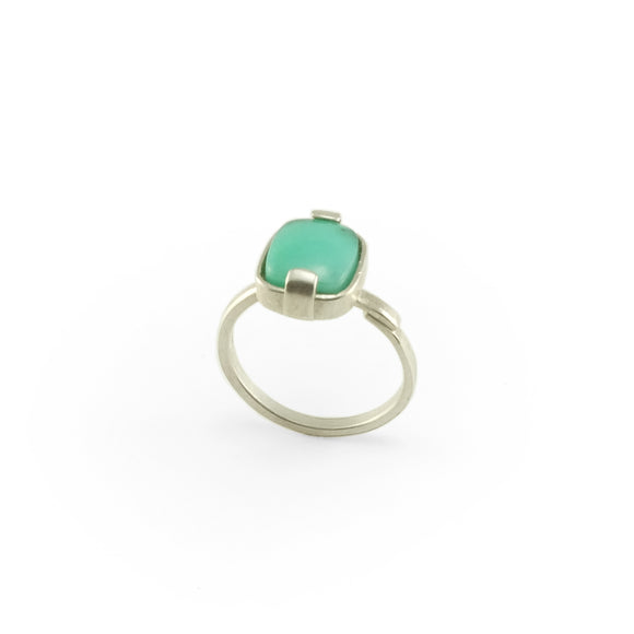 nishnabotna silver boyer ring with chrysoprase