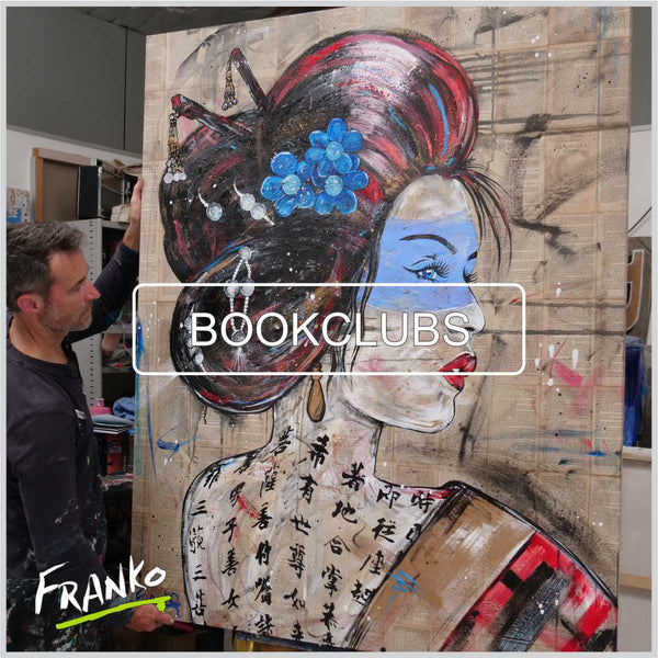 geisha painting book pages memoires large