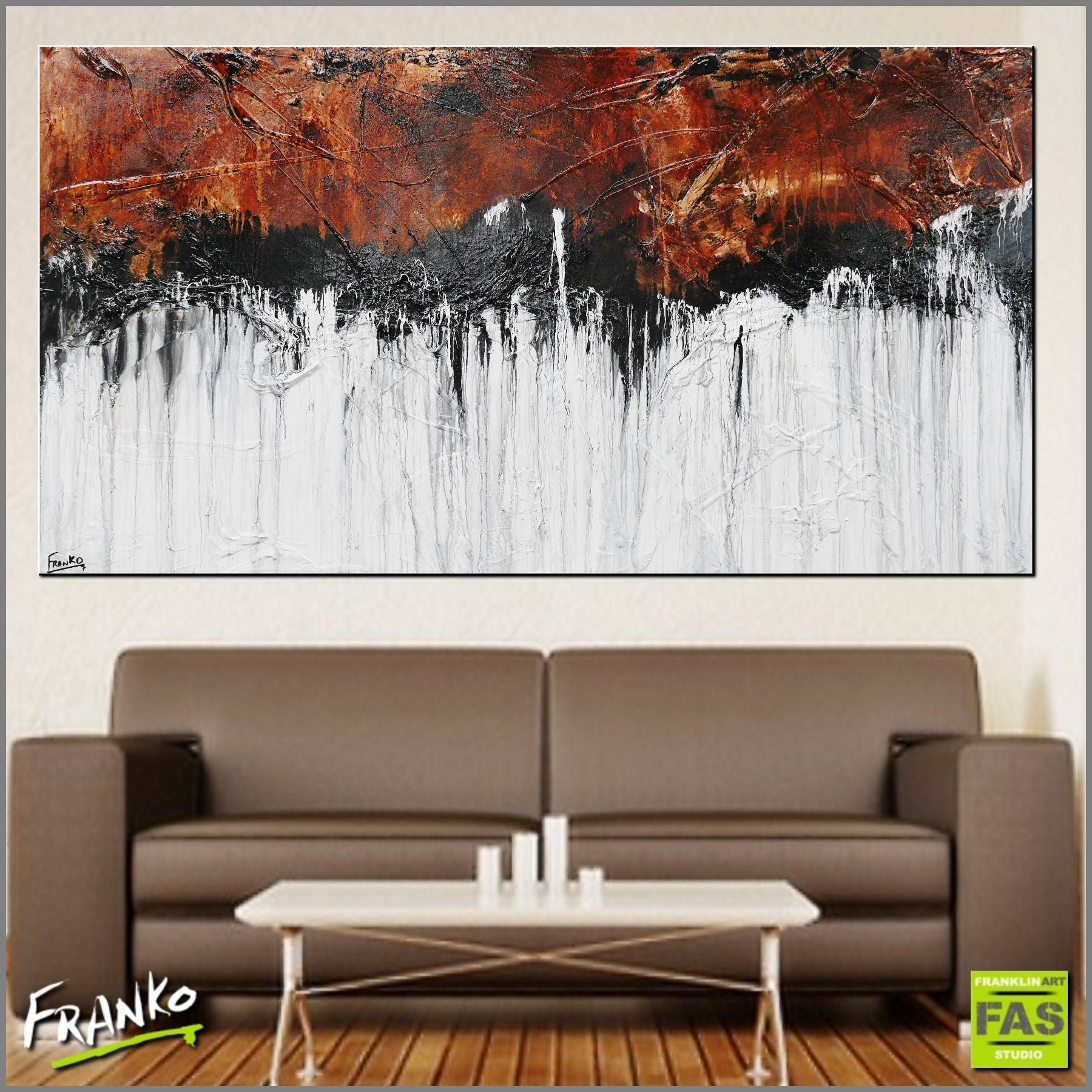 Abstract Art Paintings Brown