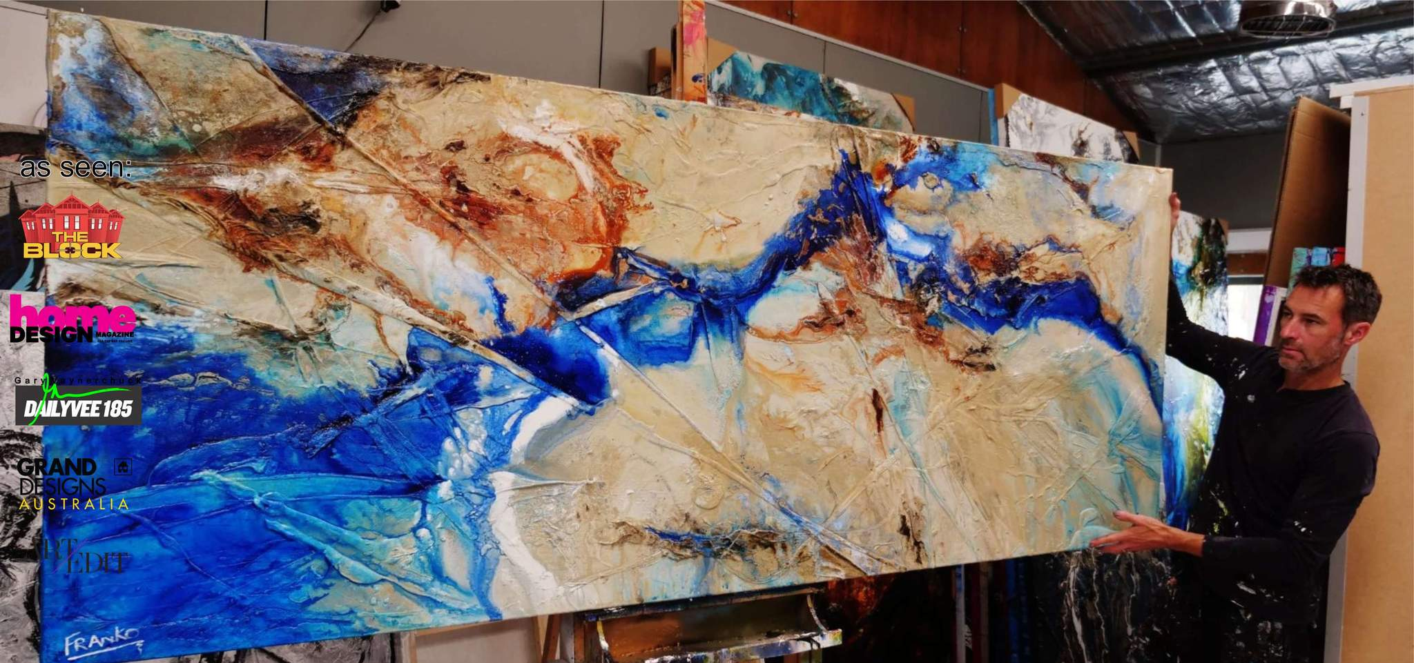 A gorgeous example of an Ink Abstract Painting