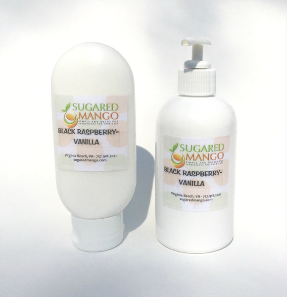 Black raspberry Vanilla Berry Good Day Lotion by Sugared Mango