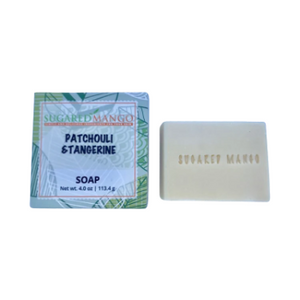 Patchouli Tangerine Essential Oil Soap - Sugared Mango