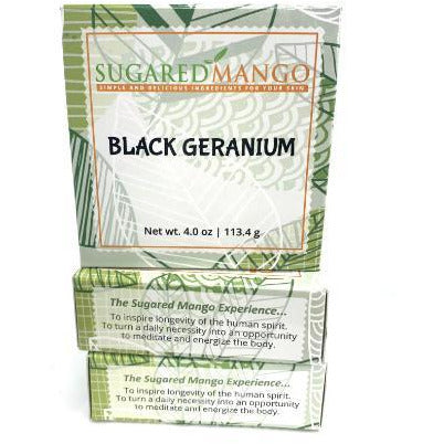 Black Geranium Soap - Sugared Mango