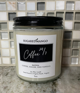 Coffee 24/7 Candle