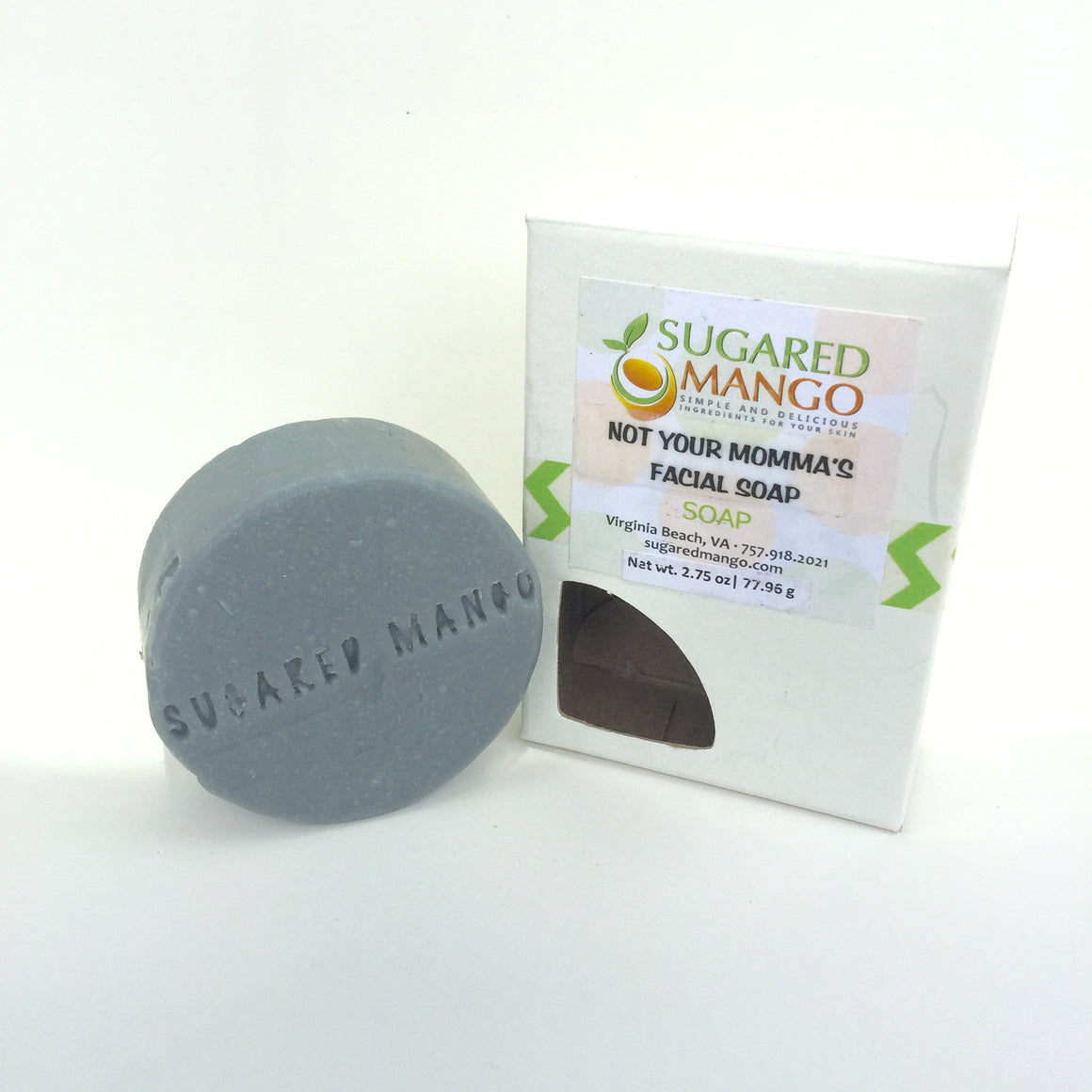 Not Your Momma's Facial Soap/Charoal Facial Bar with Essential Oils
