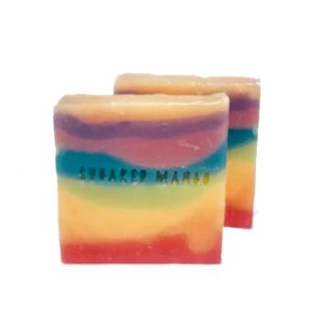 Wavy Rainbow Soap - Sugared Mango