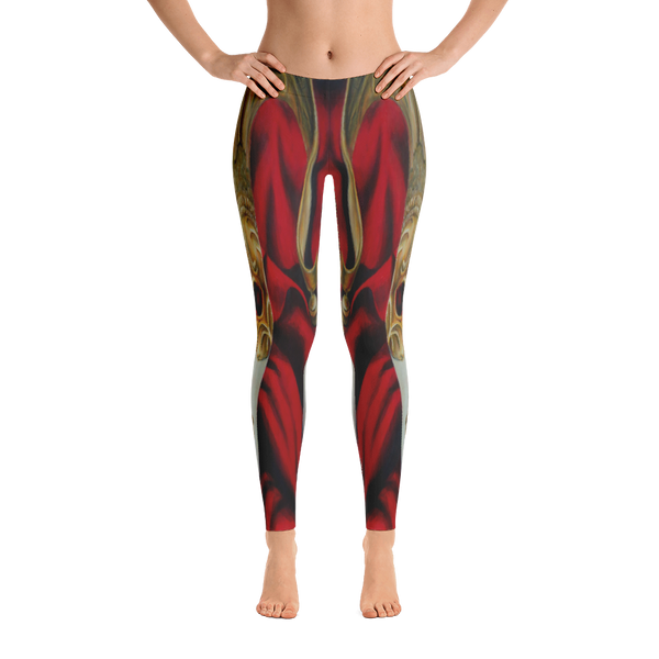 Black-Red Trendy Skulls Leggings
