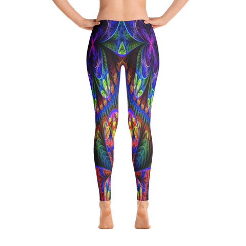 Colorful-Floral-Pattern Leggings