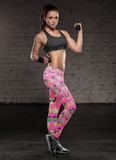 Awesome Pink Cat Leggings