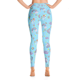 Unicorn Yoga Leggings - Blue