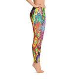 Flower Colorful Print Leggings