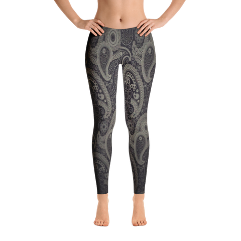 Blackish New Traditional Pattern Leggings