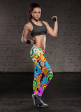 Bright Multicolor Swirly Cool Leggings