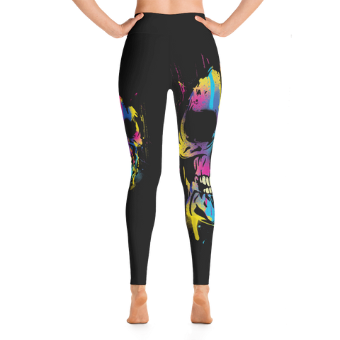 Black Art Skulls Yoga Leggings