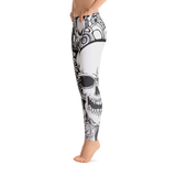 White And Black Skull Leggings