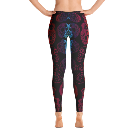 Awesome Multi Color Skull Leggings