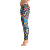 Traditional Flower Pattern Leggings