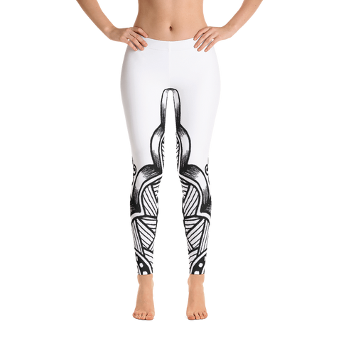 A Trendy Black Artwork Leggings