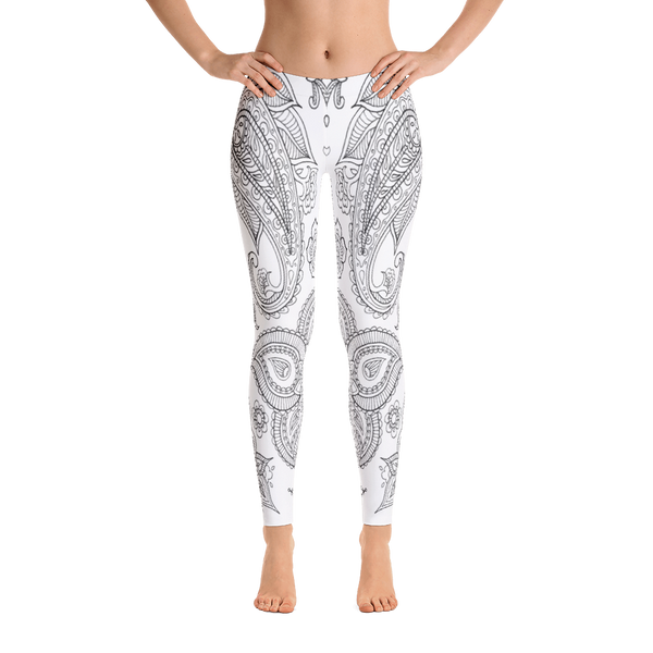 New Black-White Art Pattern Leggings