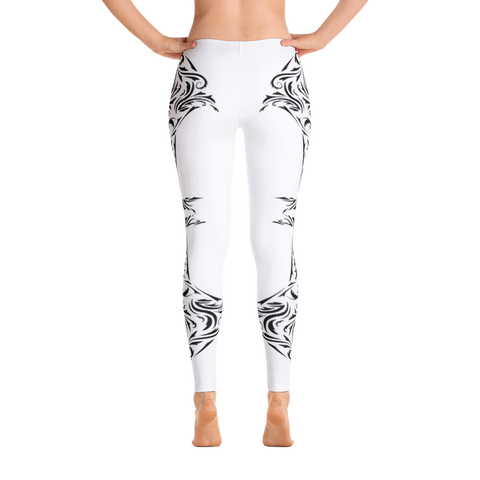 Artwork W/B Pattern Leggings