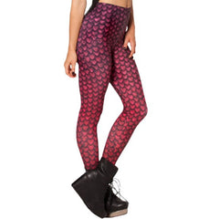 Red  Dragon Scale Leggings