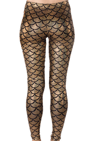 Mermaid Leggings Goldness Goddess under the sea