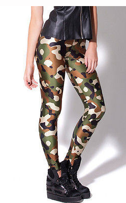 Camo Green Commando Leggings