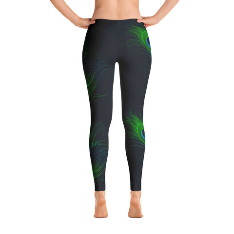 Peacock Feather Print Leggings
