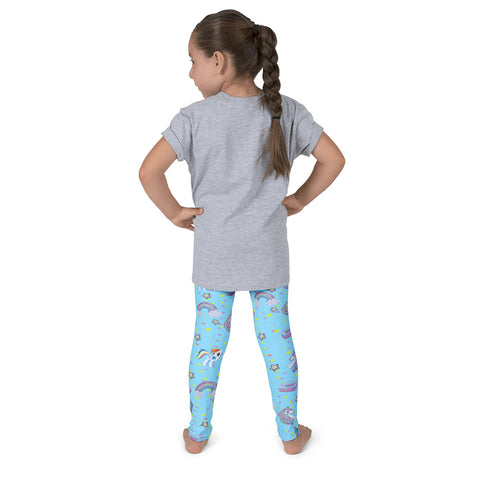 Unicorn Kids Leggings - Blue