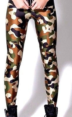 Camo Green Commando Leggings - Bohemian Leggings - 2