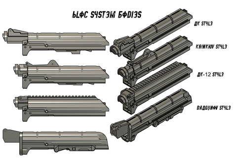 Magfed Maker MG100 AK Bloc System Bodies