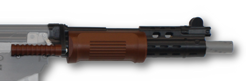 Magfed Maker FAL Heavy Barrel handguard in Dark Brown/Wood