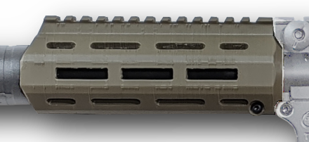 "Ratel 6.5"" Handguard in FDE with Universal Faux Suppressor"