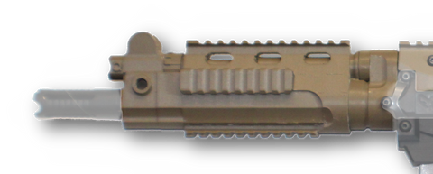 Magfed Maker FAL Para handguard on Milsig M17, in FDE