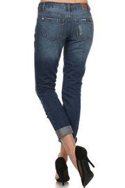 Boyfriend Fit- Distressed Medium Wash Jeans  Roselynn's