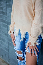 Leighton Distressed Sweater  Roselynn's
