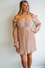 Smocked Pleated Dress  Roselynn's