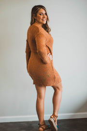 Camel Sweater Dress  Roselynn's