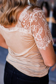 Dainty Honey Lace Top  Roselynn's