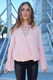 Blush Lace Top  Roselynn's