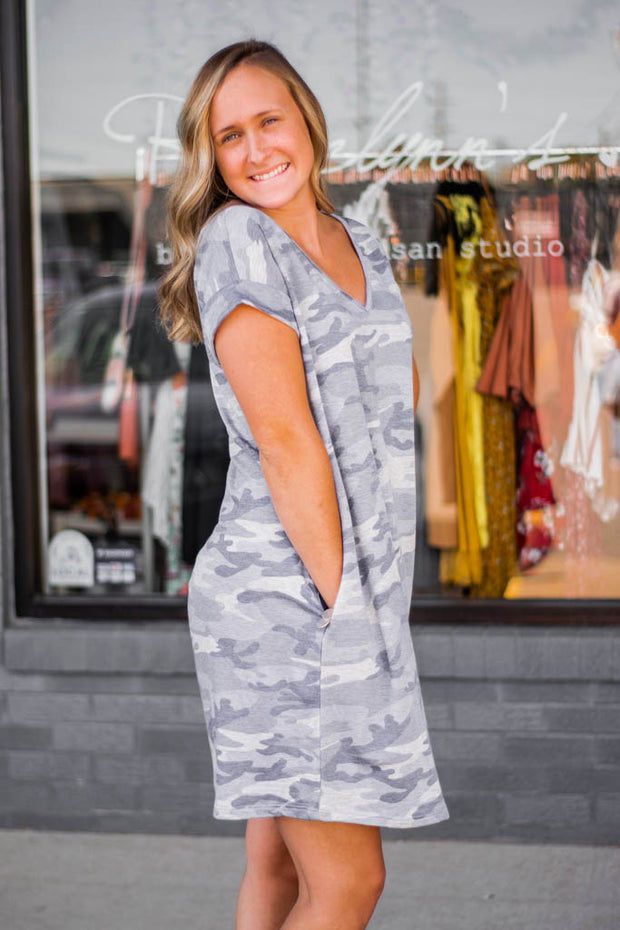 Camo pocket dress  Roselynn's