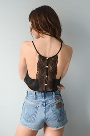 Sydney Button Up Lace Crop Bralette  Roselynn's