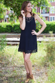 Sunday Best Sleeveless Lace Dress  Roselynn's