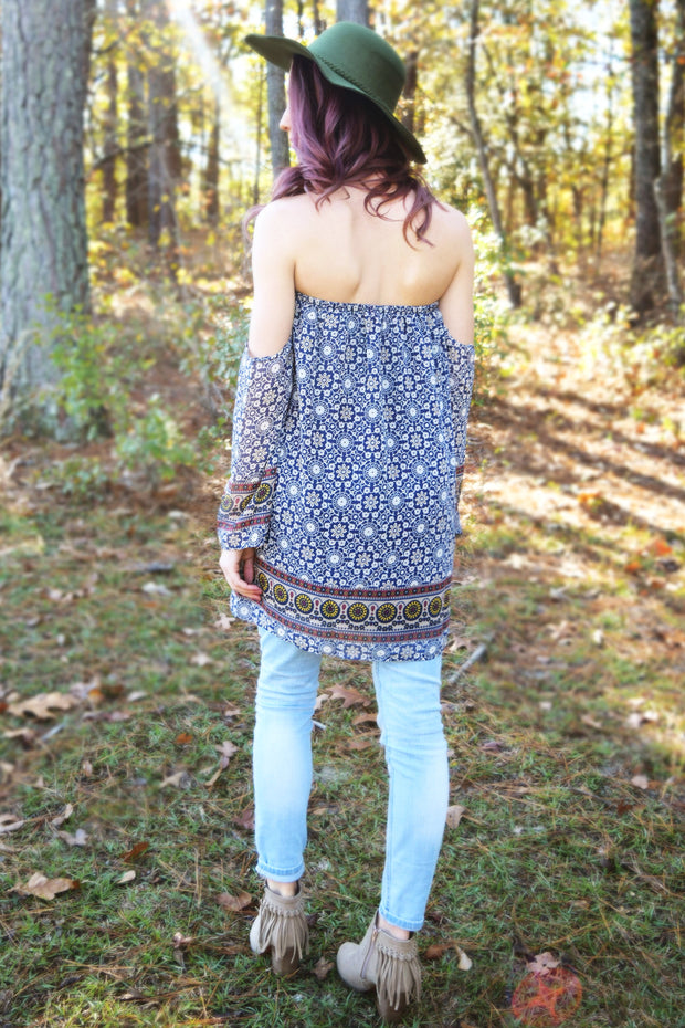 Bohemian Off The Shoulder Top  Roselynn's