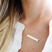 Coordinates Bar Necklace  Roselynn's
