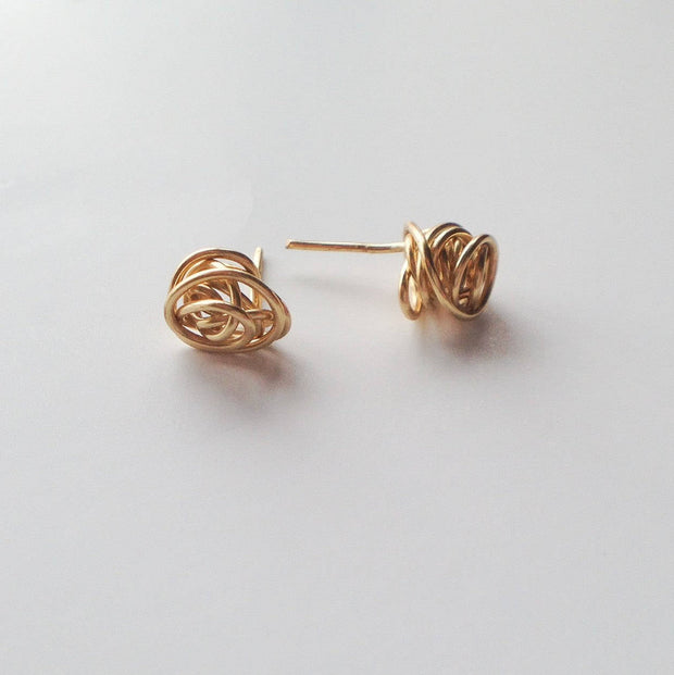 Tiny Knot Stud Earrings  Roselynn's