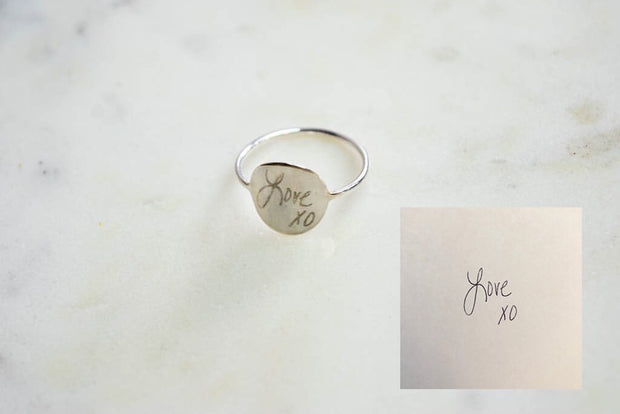 Custom Handwriting Ring  Roselynn's