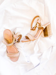Blush Stitched Heel